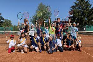 Sonniger Saisonabschluß der Tenniskids