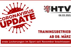 Trainingsbetrieb ab 8.3.2021